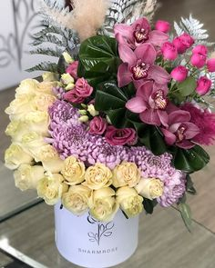 Flower Bouqet, Beautiful Bouquet Of Flowers, Good Night Flowers, Bouquet Box, Luxury Flowers, Floral Foam, Happy Birthday Images, How To Preserve Flowers, Floral Arrangements