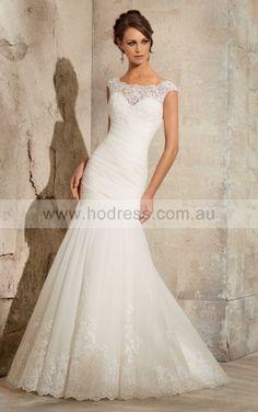 Sheath Cap Sleeves Scoop Buttons Floor-length Wedding Dresses fkbf1021