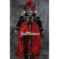 Gothic Lolita Cosplay Vampire Luxury Evening Dress Costume (€9,01) ❤ liked on Polyvore featuring costumes, role play costumes, goth halloween costumes, goth vampire costume, goth costume и gothic vampiress costume