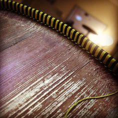 The never ending silk headband is coming along. #bookbinding #books #silk #thread #restoration #endbands