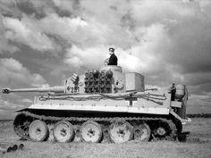 A German Tiger I tank & commander.