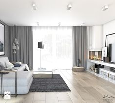 Open Plan Kitchen Living Room, Living Room Grey, Home Living Room, Living Room Designs, Living Room Decor, Small Apartment Design, Apartment Interior, Best Bedroom Colors, Living Comedor