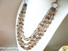 Ambra Gostoli auf KUSELVER, Halskette 'Bronze carpet'