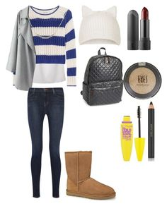 """Winter outfit"" by wallacegirl-1 ❤ liked on Polyvore featuring Elizabeth and James, Topshop, J Brand, UGG Australia, M Z Wallace, Estée Lauder, Maybelline and Amour"