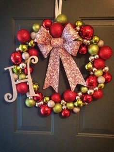 Beautiful...Personalized Christmas Ornament Wreath by cmachell12 on Etsy, $50.00