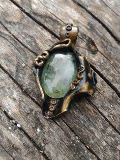 Hemera - Prenhite Pendant Greek Mythology Jewelry Green Healing Amulet Magic Witchcraft Crystal Necklace Unisex Men Unique Wearable Art Gift