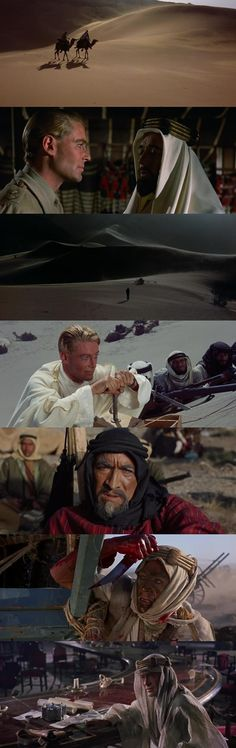 Lawrence of Arabia (1962), directed by David Lean.  The epic tale of a strong-willed, enigmatic man.
