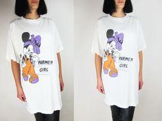 MINNIE Mouse Farmer Girl Vintage T-shirt von GaletaVintage auf Etsy