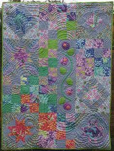 Pretty Patchwork Quilt with Applique and Texture