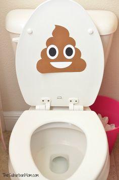 Poop Emoji Toilet Decoration