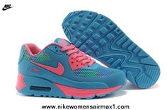 on sale 49690 cd2d3 Blue Nike Air Max 90 Womens Shoes HYP PRM KPU Shoes Running Shoes Nike, Nike