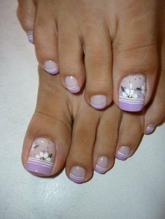 Lovely painted toe nails..