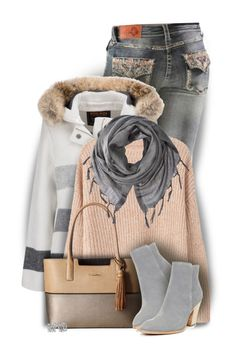 Woolrich W's Bonded Wool Parka by colierollers on Polyvore featuring MANGO, Woolrich, Donald J Pliner, Calvin Klein and Love Quotes Scarves