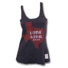 Vintage Retro Lone Star Beer Juniors Tank Top - Black