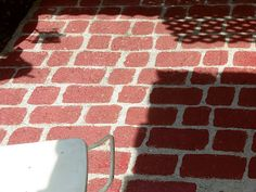 DEBBIE-DABBLE: FAUX BRICK on CONCRETE PATIO FLOOR Patio Flooring, Brick Flooring, Sponge Painting, Faux Brick, Concrete Patio, My Dream Home, Outdoor Spaces, Garden Design, Design Inspiration