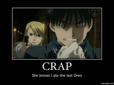Roy Mustang Fullmetal Alchemist Brotherhood (FMAB) © Hiromu Arakawa Sorry, but that made me laugh. His face!