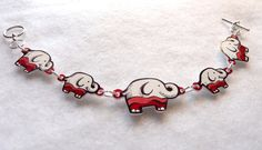 Items similar to Elephants On Parade Bracelet on Etsy Handmade Jewellery, Unique Jewelry, Handmade Gifts, Shrink Plastic Jewelry, Shrink Art, Library Activities, Sharpie Markers, Friendly Plastic, Shrinky Dinks