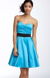 Would love if the dress was bright yellow with the sash hot pink for bridesmaids dresses