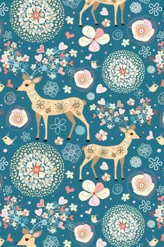 oh I love these colors...and the peach and tourquoise and the sweet deer print...sweet and fresh.