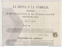 """Genova 1873 - Giornale """"La Donna e la Famiglia""""."""