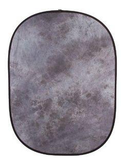 Fovitec StudioPRO - 5' x 6.5' Gray Double-Sided Pop-Out Muslin Backdrop