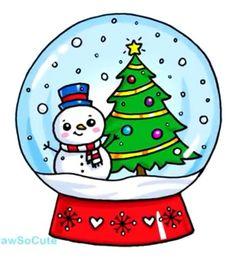 Ideas For Drawing Kawaii Christmas – Doodles Cute Easy Drawings, Cute Kawaii Drawings, Christmas Doodles, Christmas Drawing, Christmas Rock, Christmas Crafts, Drawing Sketches, Art Drawings, Drawing Ideas