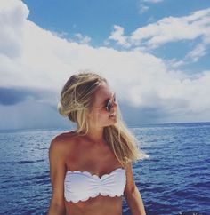 White scallop bathing suit- photography
