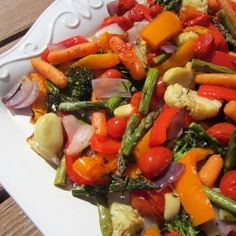 Rosemary Scented Roasted Vegetables | RecipeNewZ