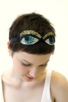 glitter eyes headband!