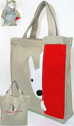 Bolsa, bag with dog.
