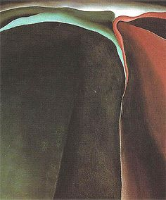 Georgia O'Keeffe Dark Abstraction Oversize