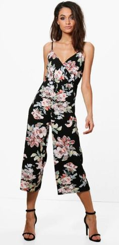 ce3456d7af Boohoo Lara Floral Wrap Around Jumpsuit Size 10 rrp 22 LS079 AA 12  fashion