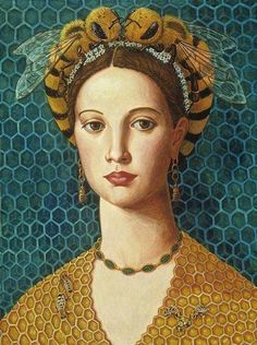 The Queen bee - an essential leader for any hive to successfully produce pure gold , honey