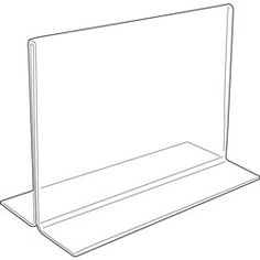 Various sizes for displays Acrylic Sign Holder