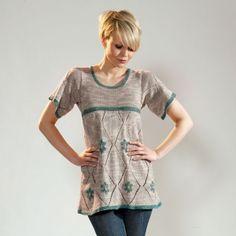 Tarragon Tunic Free Knitting Pattern when you Buy as a Kit