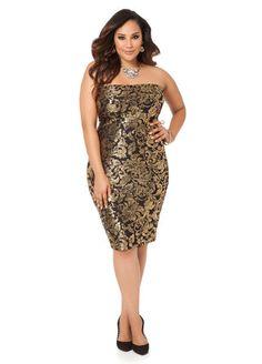 Gold Foil Textured Tube Dress Gold Foil Textured Tube Dress