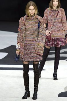 Chanel Fall 2013: Sexy Knitwear (No, Really!), LBDs and Over-The-Knee Boots You'll Swoon Over