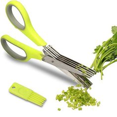 Herb Scissors - Multipurpose Kitchen Shears with 5 Stainless Steel Blades.