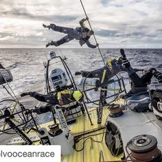 #Repost @volvooceanrace Anti-gravity Photo by Stefan Coppers / Team Brunel #sharemysea #ShareMySea