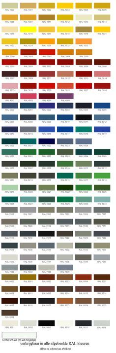 Overzicht alle beschikbare RAL kleuren 6011 voor badkamer 5024 voor keuken Pattern And Decoration, Where The Heart Is, Colour Schemes, Paint Colors, Web Design, Inspiration, Columns, Toilet, Palette