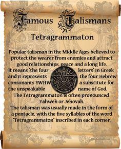 Ceremonial Magick:  #Ceremonial #Magick ~ Tetragrammaton Talisman.
