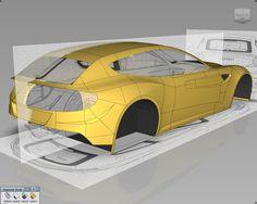 Part 4: Ferrari FF modeling on Behance
