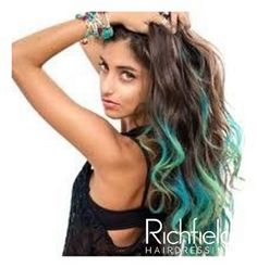 Colorsmash can be applied to the mid-length & ends to create a fun, bright balayage look