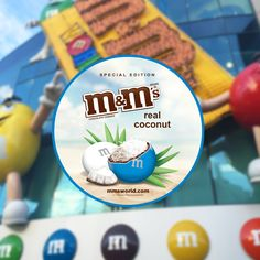 M&M's World - With our special edition Real Coconut flavor, you'll taste real coconut and chocolate in every bite! Exclusively available at M&M'S World in New York, Las Vegas and Orlando.
