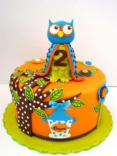 Owl cake for Bogi | MIna Bakalova | Flickr