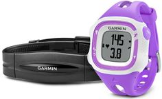 Garmin Forerunner 15 GPS Running Watch and Activity Tracker with Heart Rate Monitor - Small, Violet/White