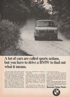 1969 BMW sports sedan vintage ad