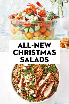All-new Christmas salads Christmas Lunch, Christmas Cooking, Christmas Treats, Christmas Time, Prawn Cocktail, Creamy Potato Salad, Childrens Meals, Healthy Food, Healthy Recipes