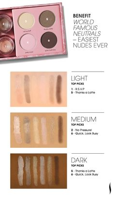 Benefit World Famous Neutrals Palette - Easiest Nudes Ever #Sephora #eyecandy