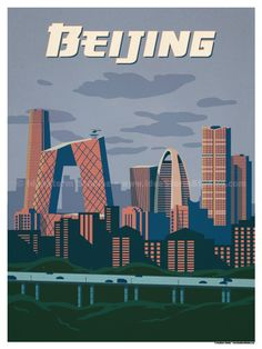 Beijing Poster by IdeaStorm Studios. ©2017. Available for sale at ideastorm.bigcartel.com